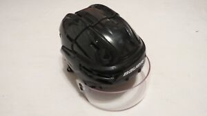 Lightly-Used-Bauer-Re-Akt-White-Pro-Stock-Devils-Hockey-Helmet-Size-Small