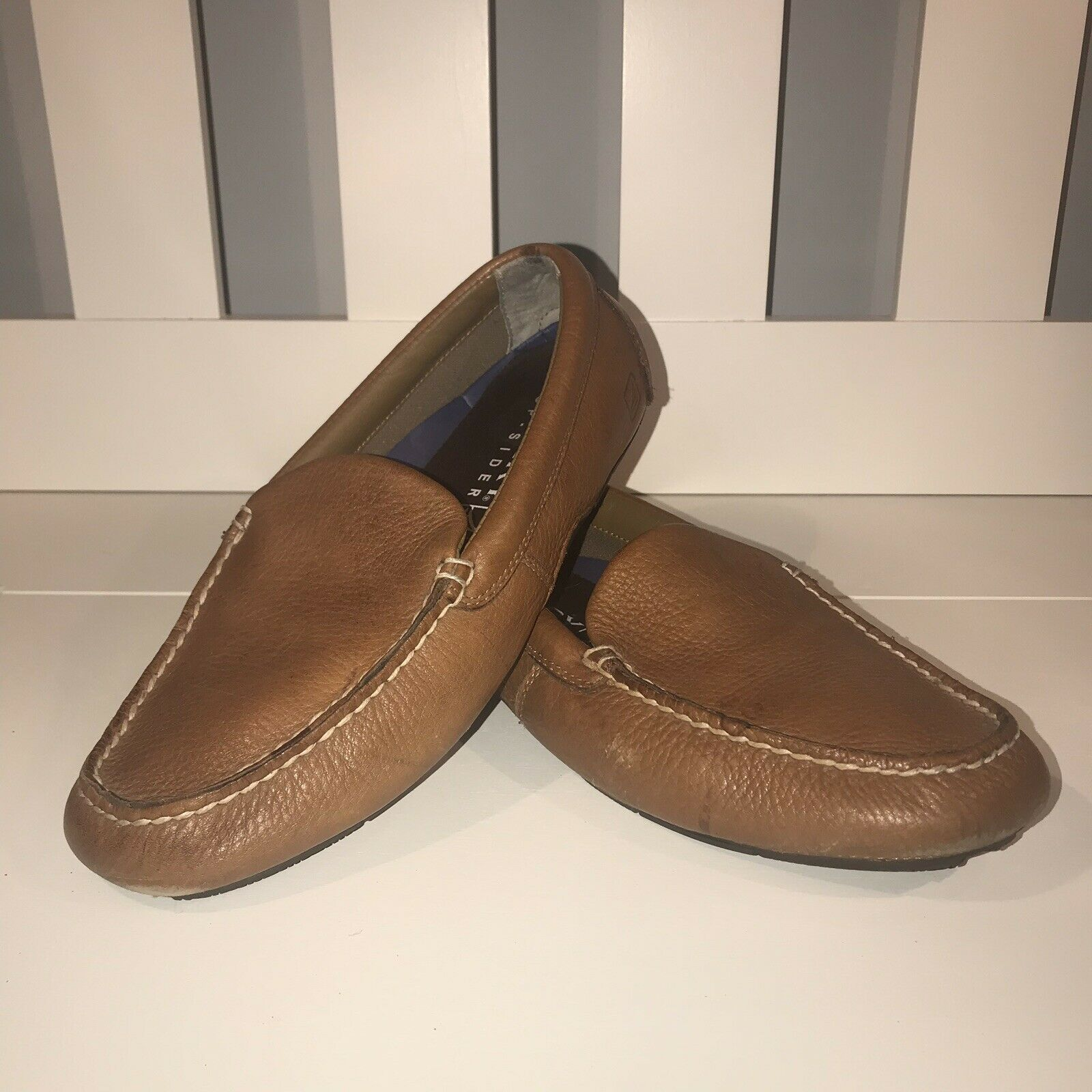 Sperry Top Sider Hampden Venetian Leather Loafers Mens Size 9