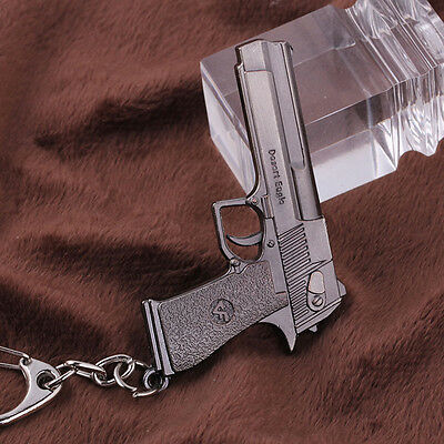 Hot 10cm Cross Fire CF Desert Eagle Pistol Weapon Metal Gun Keychain Keyring