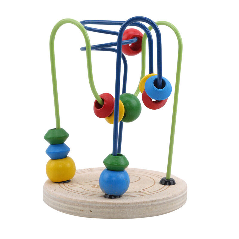 Baby Toy Around The Beads Wire Maze Colorful Educational Game Kid LP 2