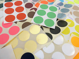 25mm-1-inch-Round-Stickers-Coloured-Circles-Circular-Sticky-Labels-36-colours