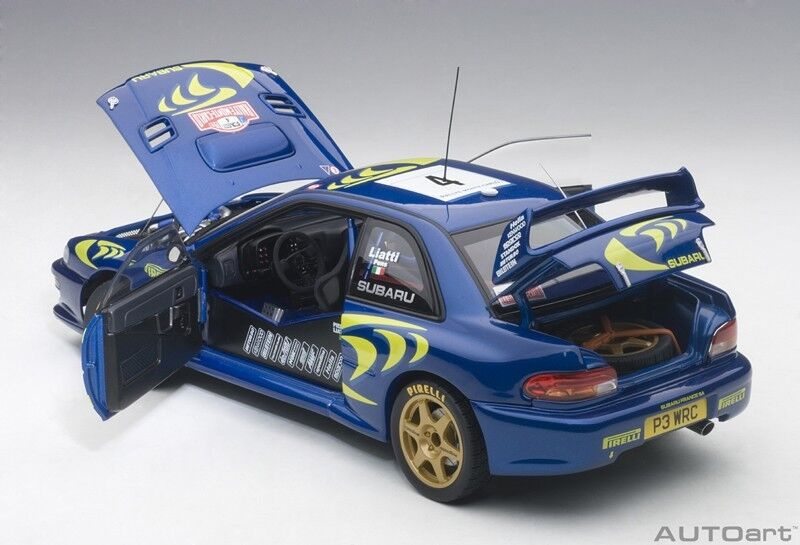 Autoart Subaru Impreza WRC 1997  4 Liatti  Fabriziapons Rally Monte voiturelo 1 18  expédition rapide à vous