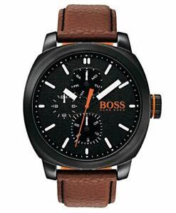 Hugo Boss 1550028 Men's Cape Town Stainless Steel Quartz Leather Watch New