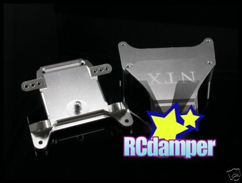 ALUMINUM UPPER CAP & LOWER BRACE BULKHEAD S TEAM LOSI XXX-NT XXX-CR ALLOY