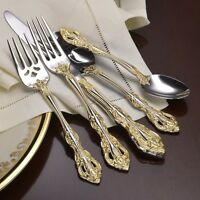 Oneida Golden Michelangelo 18k Ep Service For 4 -18/10 Stainless Flatware on sale