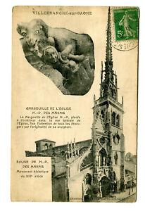 CPA 69 Rhône Villefranche-sur-Saône Eglise Notre-Dame des Marais Gargouille