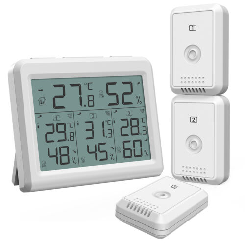 Outdoor Indoor-Digital LCD Display Thermometer Hygrometer Temperature Humidity