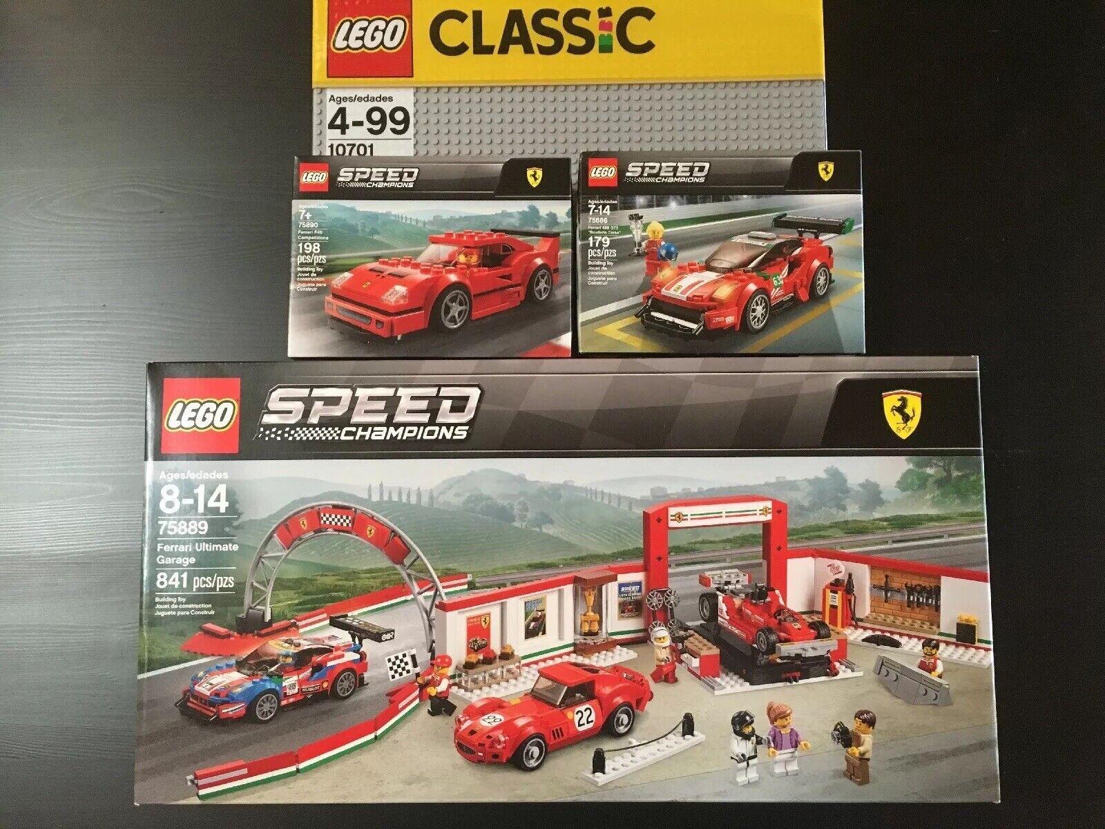 El campeón de velocidad de Lego Ferrari.
