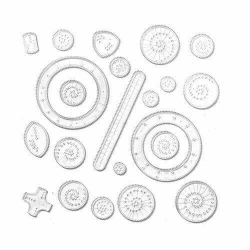 Spirograph Drawing 22//12 Pcs Interlocking Gears Wheel School Education Toy Craft