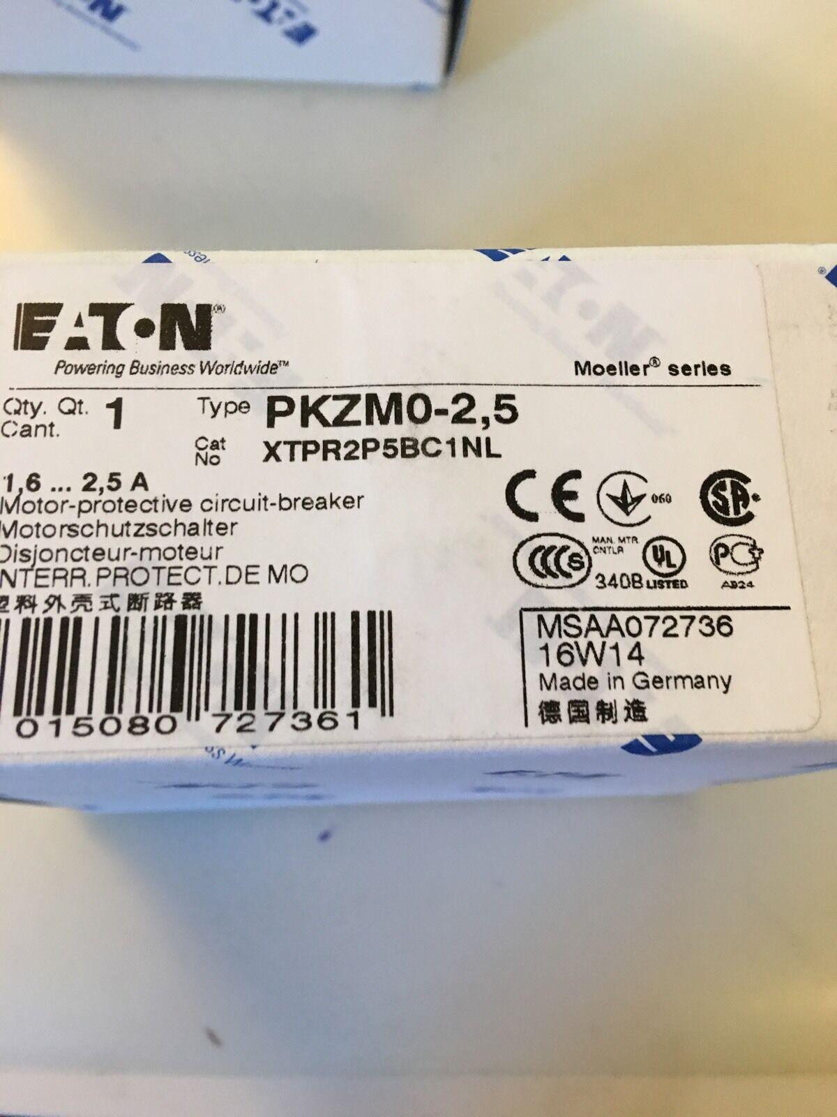 Eaton Moeller.  PKZM0-2.5. Manual Motor. Starter