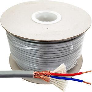 25m Shielded Microphone Cable PRO 2 Core Twin Audio Screened Pure Copper Mixer