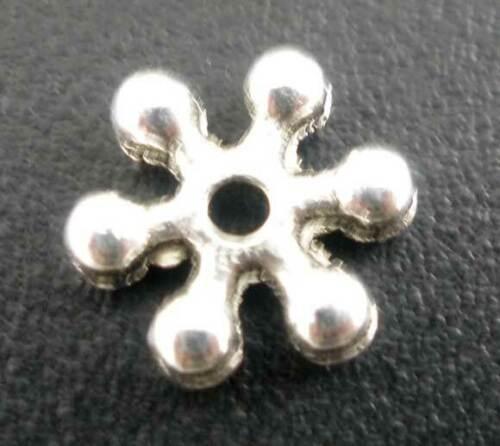 5mm Daisy spacer corona diámetro de agujero 25 abalorios metal 7x1 1,3mm