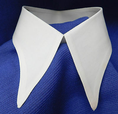 Vintage Perfection spearpoint shirt collar UNUSED Semi-stiff white size 13 88