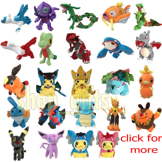 Pokemon Go Anime Plush Pikachu Soft Toy Stuffed Animal Doll Teddy Figure NEW