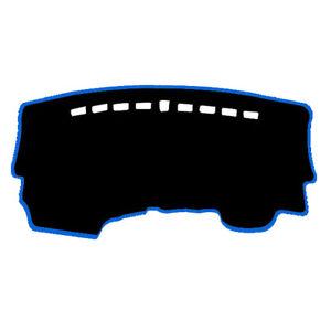 Dash-Mat-Cover-Black-w-Sky-Blue-Edge-for-03-2017-2019-Kia-Picanto-GT-Hatchback