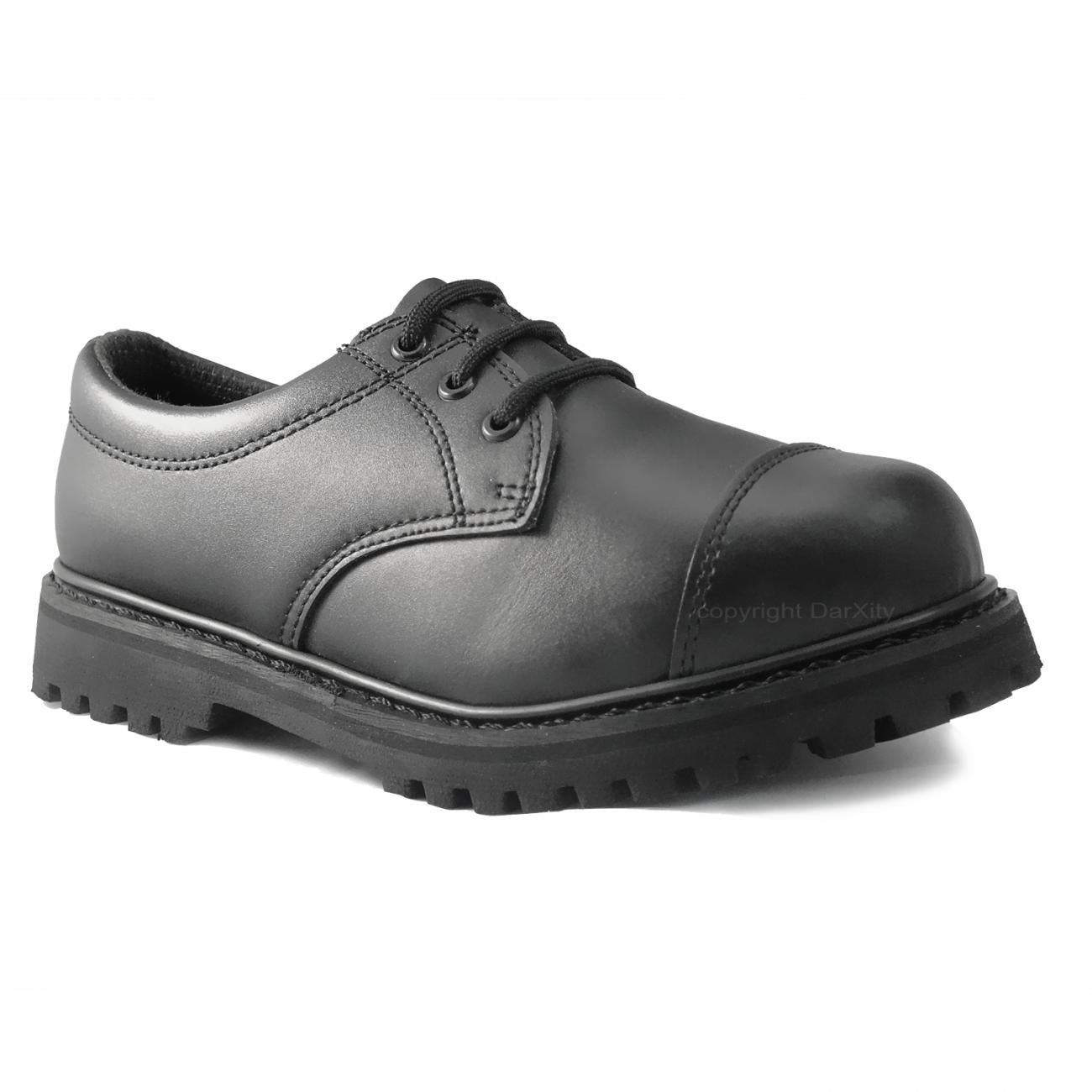 3 LOCH RANGER, schwarze Stiefel Stiefel Stiefel von Brandit mit Stahlkappe Gothic Springerstiefel bd667f