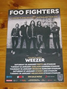 FOO-FIGHTERS-WEEZER-2018-Laminated-Australia-Tour-Poster-2nd-Release-OFFICIAL