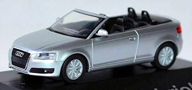 Audi A3 Cabriolet Cabriolet 8P 2008-13 Ice Silver Silver Metallic 1:87