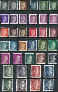 Stamp Germany Mi 781-802A B Sc 506-27 1941 WW2 War Era Hitler Definitive Set MNH