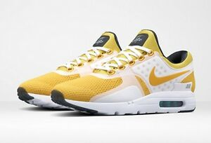 newest 767b9 07aa9 Details about Nike Air Max Zero QS 8 White Vivid Sulfur Yellow Tinker  Sneaker App Exclusive