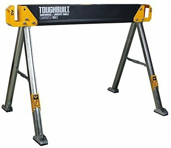 Folding Sawhorse Jobsite Table Sturdy Durable Lightweight Heavy-Duty 41.5