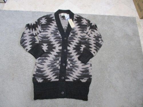 Large 889041836065 Supply Denim Ralph Marron Lauren Aztec Extra Pull à Femme boutons Nouveau qv71RR