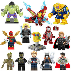 new concept 2c7e2 d2fcd Image is loading Avengers-Super-Hero-Marvel-Thanos-Gauntlet-Mini-Figures-