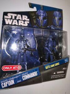 """Star Wars Clone, pack commando sénatorial et capitaine, 3 3/4 """"Exclusivité"""