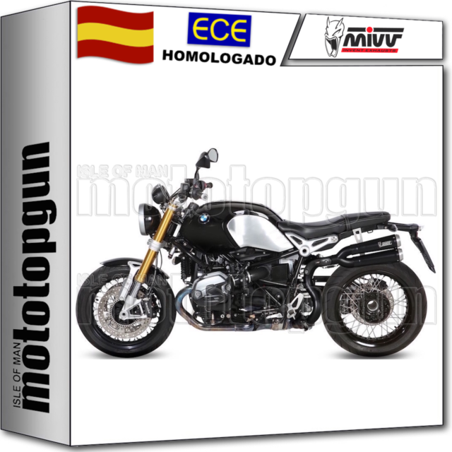 MIVV TUBO DE ESCAPE HOM XCONE NEGRO CERAMIC ALTO BMW R NINE T RNINE T 2014 14
