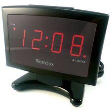 Westclox 70014 Plasma Display 0.9 inch Red LED Electric Alarm Clock