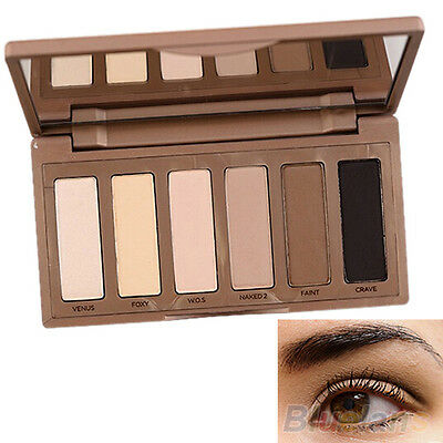 Women's Stylish 6 Basic Colors Mini Eyeshadow Palette Powder Makeup Cosmetic