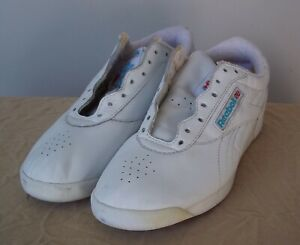 372be020d172c REEBOK CLASSIC Vintage 1989 Women s White Leather Casual Tennis ...