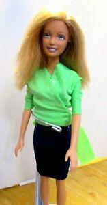 Barbie-doll-straight-body-green-top-navy-skirt-black-high-heels