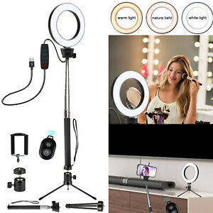 LED-Selfie-Ring-Light-with-Tripod-Stand-amp-Cell-Phone-Holder-For-Makeup-Live-Stream