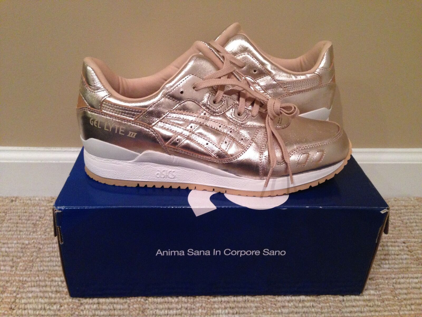 Asics Mujer Gel Lyte 3 comodos Mujer Asics champagne 3487d6