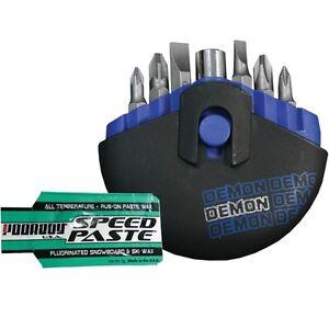 DEMON-Halb-Kuppel-Tasche-Snowboard-Werkzeug-Schraubenzieher-Geschwindigkeit