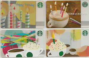 Image Is Loading Starbucks Gift Card Birthday Candles Set Of Four
