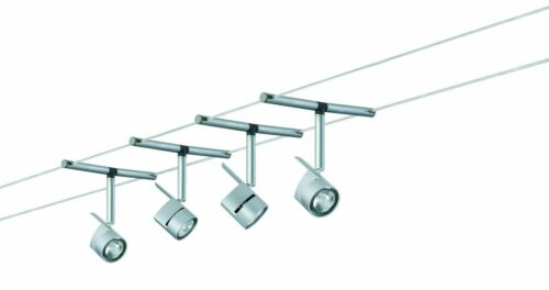 Paulmann Wire System MiniPower 150 4x35W GU4 Chrom matt 230//12V 150VA Metall