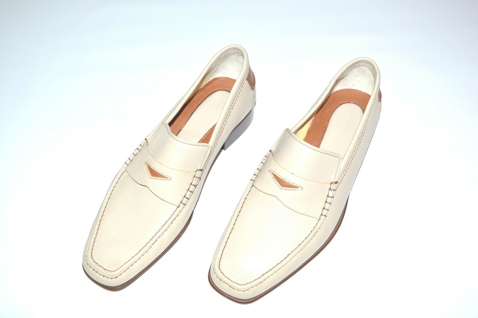 NEW  STEFANO RICCI Leather Shoes Size Eu 42 Us 9 (Cod 451)