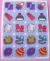 Eureka 1 Sheet 20 Stickers Winter Clothes Hats Coats Mittens Boots Sweaters