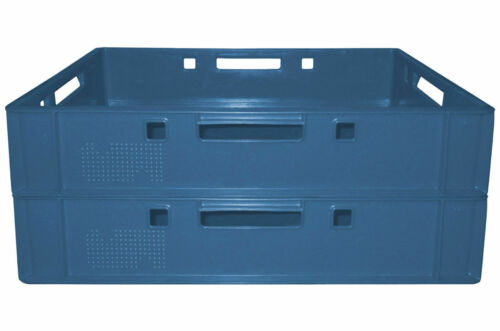 2 Fleischerkiste Fleischereikiste Eurokiste Metzgerkiste E1 Farbe Blau Gastlando