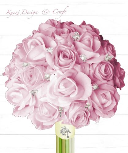 24 pc Assorted Alloy Rhinestone Crystal Brooches Wedding Bouquet Cake