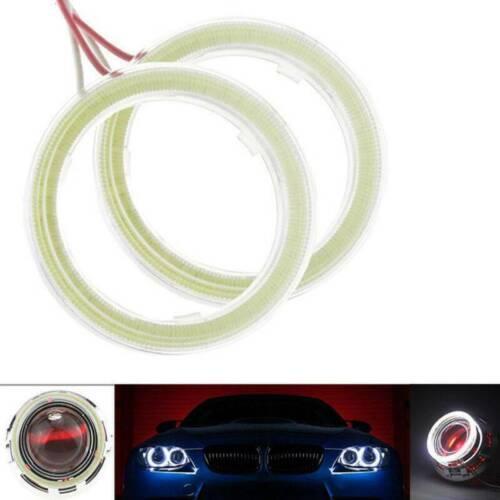 2X Angel Eyes 60-120MM LED COB Chip Car Headlight Halo Ring Light DRL Fog Lamps
