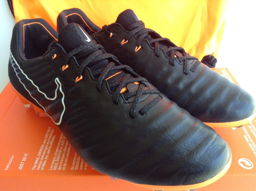 NIKE TIEMPO LEGEND 7 ELITE FG noir-TOTAL ORANGE MNS.SZ.7=WMNS.8.5 (AH7238-080)