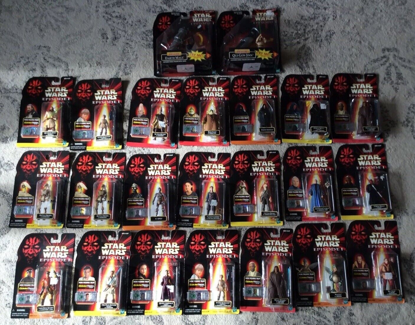 HASBRO STAR WARS EPISODE 1 ACTION FIGURE LOT (22) MIP AWESOME SHIPS FAST