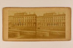 Hotel-Da-La-Moneta-Parigi-Francia-Foto-Stereo-Vintage-Albumina-c1870