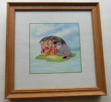"Framed Winnie the Pooh  Art Print Umbrella with Eeyore & Tigger 9.75"" Disney"