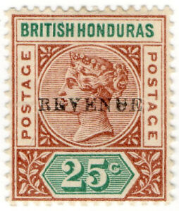 I-B-British-Honduras-Revenue-Duty-Stamp-25c