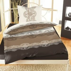 2tlg bettw sche microfaser coral fleece nicky teddy pl sch braun creme 135x200cm ebay. Black Bedroom Furniture Sets. Home Design Ideas