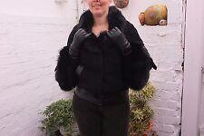 Real Fox Fur Lambskin Leather Jacket..by ACASTA..size 12-14 UK..
